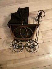 """Miniature Handmade Antique Doll Buggy-11"""" High 8-1/2"""" Front 2 Back,5-1/2"""" Wide"""