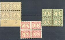 NED INDIE # 107, 110/111  x 4   KW € 68  ** MNH   PF  @3