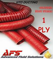 80mm RED 1 Ply HIGH TEMP FLEXIBLE SILICONE HOSE DUCTING