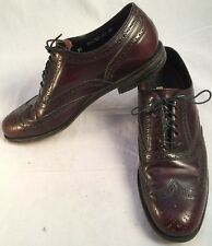Florsheim  Cordovan Mens Size 9 D Burgundy Leather Wing tip Dress Shoes