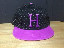 Huf Polka Dot Black Purple 7 5/8 New Era **Used** 5950 Supreme Hundreds