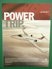 6/2004 PUB BOMBARDIER LEARJET REGIONAL AIRCRAFT BUSINESS JET ORIGINAL ADVERT
