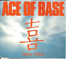 ACE OF BASE Happy Nation 3TRX RARE RADIO EDIT & 12 INCH VERSION CD single SEALED