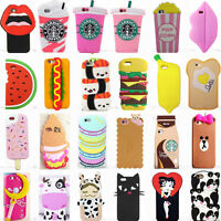 3D Cartoon Silicone Phone Case Cover Back For Apple iPhone SE 5/5S/5C 6/6S Plus