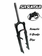 "SR Suntour XCR 26er 1-1/8"" 100mm Suspension Fork Remote Lockout Disc V-Brake XC"