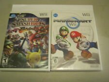MARIO KART WII SUPER SMASH BROS BRAWL WII  NEW TWO GAMES CAN BE PLAYED WIIU