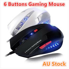 6 Buttons Optical USB Pro Gaming Mouse Laptop PC CS WOW RAZER Blue LED Light