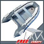 10.8 ft Inflatable Boat Dinghy Tender Pontoon Boat + Free Bimini Top Canopy