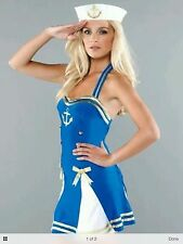 Ann Summers Sassy Sailor Girl fancy dress Hen Xmas Party costume size 12 BNWT