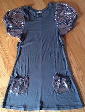 Casting Grey Women's Dress Tunic Top. Sparkling Sleeves And Pockets. Gorgeous.