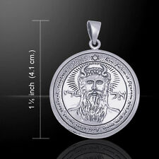 The First Pentacle of the Sun Seal of Solomon .925 Sterling Silver Pendant