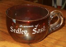 Sedley Saskatchewan ruby coffee tea cup EARPG early 1900s