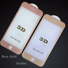 3D Edge Metal Full Coverage Tempered Glass Screen Film For iPhone 4 Color