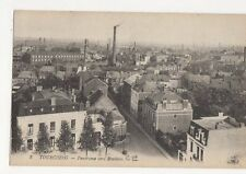 Tourcoing Panorama Vers Roubaix France Vintage Postcard 262a