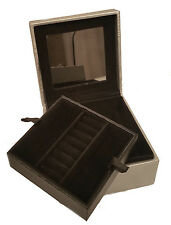 Tuscan Designs Silver Travel Jewelry Box Gift For Her
