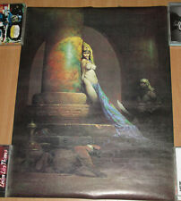 """Egyptian Queen"" [1969] by Frank Frazetta, 18.5x23 poster, 1979, VG+, Cleopatra"