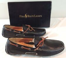 250 Men Polo Ralph Lauren Rowland Luxe Tumbled Leather Loafer Driving Shoes 11.5
