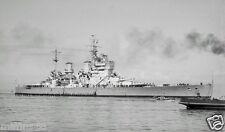 ROYAL NAVY BATTLESHIP HMS KING GEORGE V AT MELBOURNE IN OCTOBER 1945