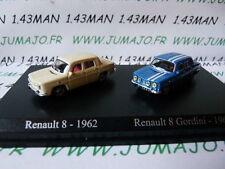 DUO voitures 1/87 HO norev / universal Hobbies : RENAULT 8 + gordini