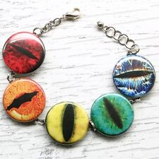 rainbow animal creature eye ball bracelet charm halloween lizard snake halloween