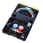 R134A AC Diagnostic Manifold Gauge Tool Set Refrigeration Air Conditioning +Kit