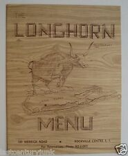 Restaurant Menu For The Longhorn Restaurant, Rockville Centre Long Island