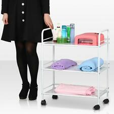 NEW Rolling Iron Trolley Cart 3 Shelves Hair Beauty Salon Spa Storage Organizer