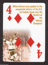 Miracle On Ice Team USA Hockey Neat Card! #0Y8