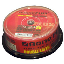 25 PACK SPINDLE AONE PLUS BLANK MEDIA DVD+R DL DISCS 8x SPEED DUAL LAYER 8.5GB