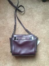 "Botkier ""Leroy"" Purple Leather Crossbody Bag."
