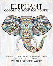 Animal Coloring Books for Adults Coloring Page Elephant Patterns Drawings Relax