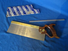 """E T Roberts and Lee  brass backed 12"""" tenon / dovetail saw 13 tpi"""