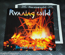 Running Wild 'Branded & Exiled' First Press Noise 1985 LP + Inner Rare EX Metal