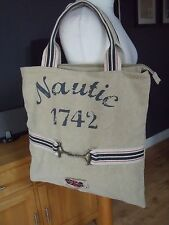 FAB EXTRA LARGE THICK CANVAS NAUTICAL   UNION JACK  TOTE IDEAL BEACH BAG  NEW