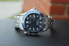 Omega Seamaster Pro SMP 300M 2541.80 Full Size Blue Dial Bond Quartz Men's Watch
