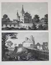 c1850 Polen Poland Ostrog Wolhynien Galizien Zator Zweiteiliger Stahlstich