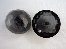 B226cl-15mm 10 BABY CRYSTAL DIAMOND GLASS EFFECT SHANKED PLASTIC ITALIAN BUTTONS