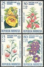Indonesia 1966 MIRTO/GIGLIO/DISASTRO fondo/Fiori/Piante/NATURA SET 4v (n41122)