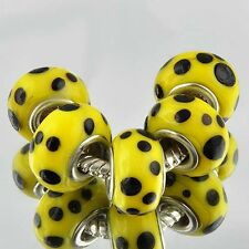 5pcs murano glass beads free shipping lampwork beads fit European Bracelet