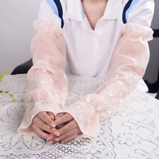 Random Fashion Women Lady Extra Long UV protection Sunscreen Lace gloves Mittens