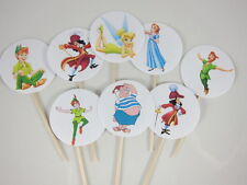 Peter Pan and Wendy 12 pc set CUPCAKE TOPPERS PICKS Double-Sided