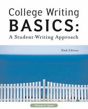 College Writing Basics: A Student-Writing Approach, Thomas E. Tyner, Good Book