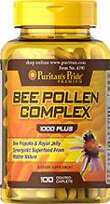 Puritan's Pride Bee Pollen Complex 1000mg 100 Caplets