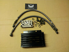 BLACK alloy cnc oil cooler radiator Pit Dirt quad  monkey  bike 90cc110cc 125cc