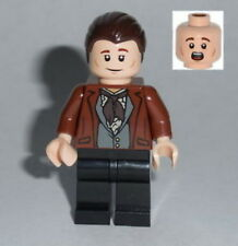 MOVIE Lego Ghostbusters Dr. Peter Venkman Street Clothes Brown Suit  custom #4s