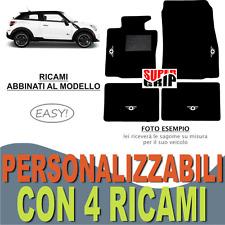 TAPPETINI AUTO PER MINI COOPER PACEMAN IN MOQUETTE E GOMMA + 4 RICAMI EASY