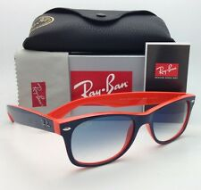 Ray-Ban Sunglasses RB 2132 NEW WAYFARER 789/3F 52-18 Blue on Orange w/Blue Shade