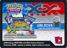 2 x Pokemon XY Base  Booster Pack Online TCGO Code Card | Redeems Online