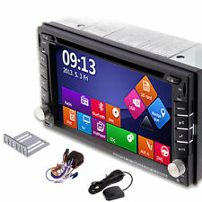 HQ Double 2Din HD Touch Screen Car Stereo DVD Player GPS Nav Radio Bluetooth