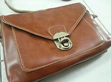 New Leather  Sling Bag in Camel Brown